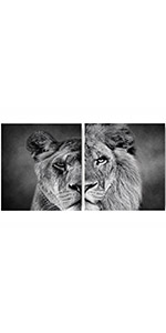 """Wild Animals Art Painting Office KTV or Living , Set of 2 (8""""X10"""" Canvas Picture"""