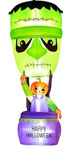 Inflatable Pumpkin Man in Frankenstein Balloon