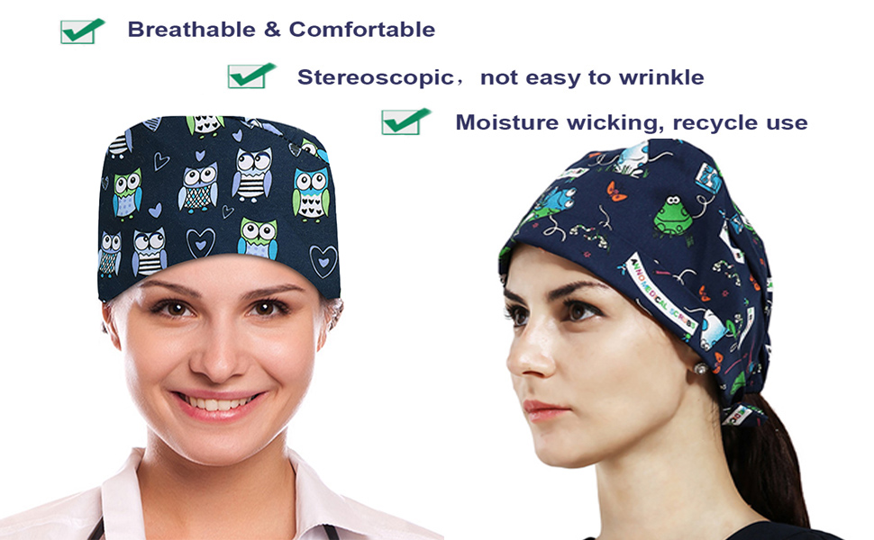 Breathable Bouffant Hats