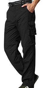 Men's Outdoor Cargo Hiking Pants Lightweight Waterproof Quick Dry Tactical Pants