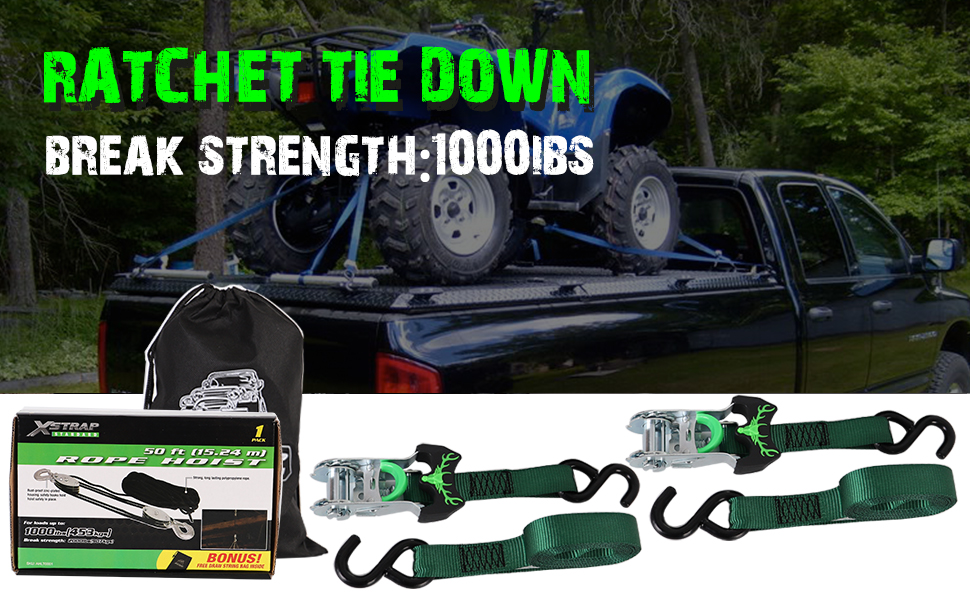 Break Strength Cargo Straps for Camping Trailer by Stalwart 10 Ft 4 Pack Roof Rack Moving in a Truck Hunting Ratchet Tie Down Straps 1500 lb