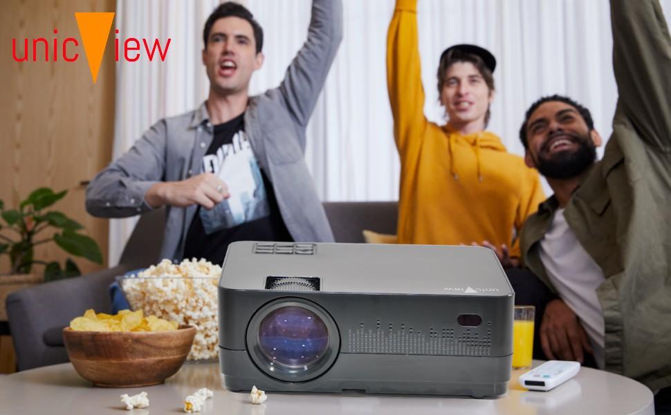 cine en casa unicview hd450 con android smart amazon prime video compatible netflix ac3 dolby