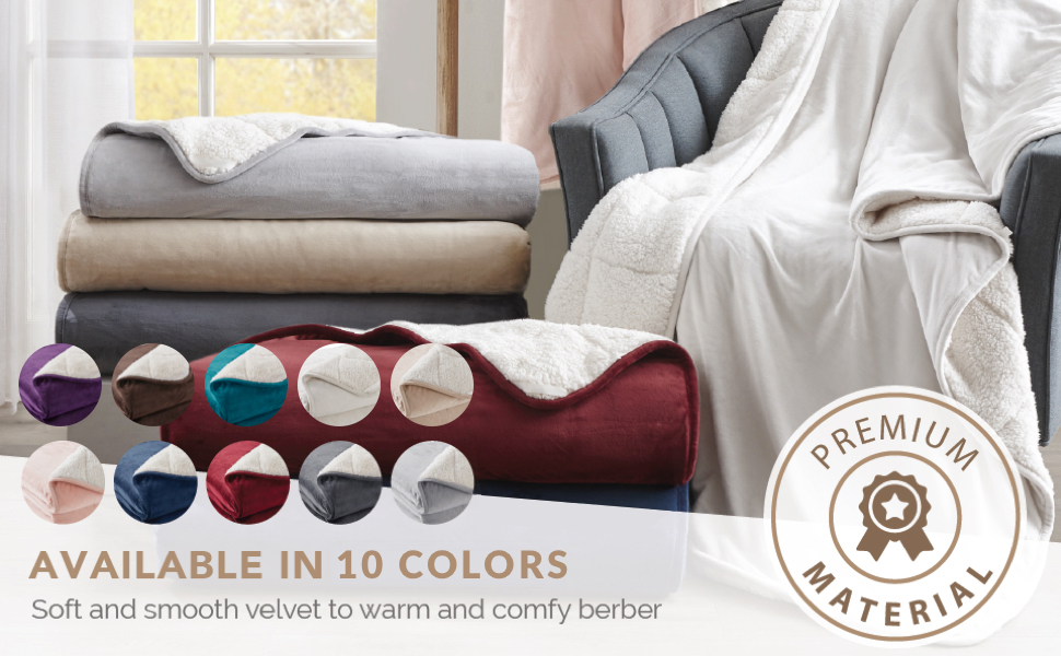 Degree of Comfort - Velvet Weighted Throw Color Variate