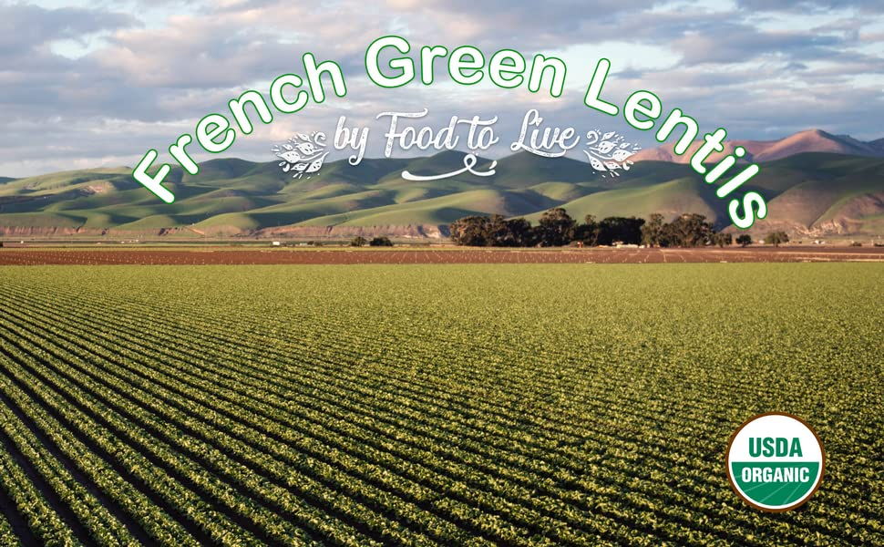 french green lentils, food to live