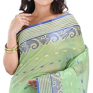 blue border saree latest design