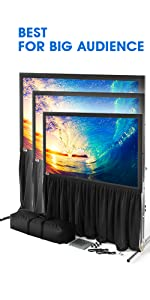Outdoor Projector Screen with Stand with Wall Mount usage for big audience