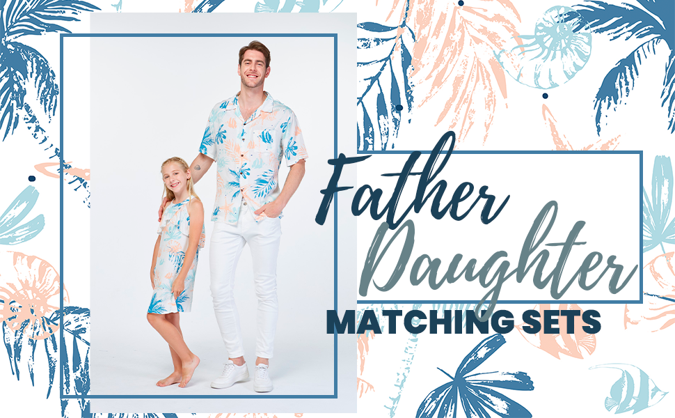 Hawaiian Father Daughter Matching sets