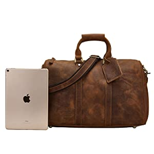 crazy horse leather bag for men handbag weekender bag