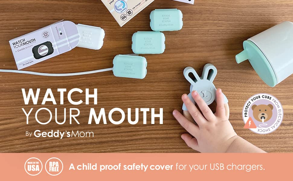 Watch Your Mouth Banner Products to Lock Loose Cords