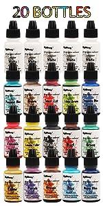 Epoxy UV-hars pigment