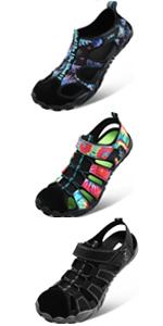 JIASUQI Womens Girls Quick Dry Beach Walking Sandals Boating Diving Athletic Hiking Water Shoes