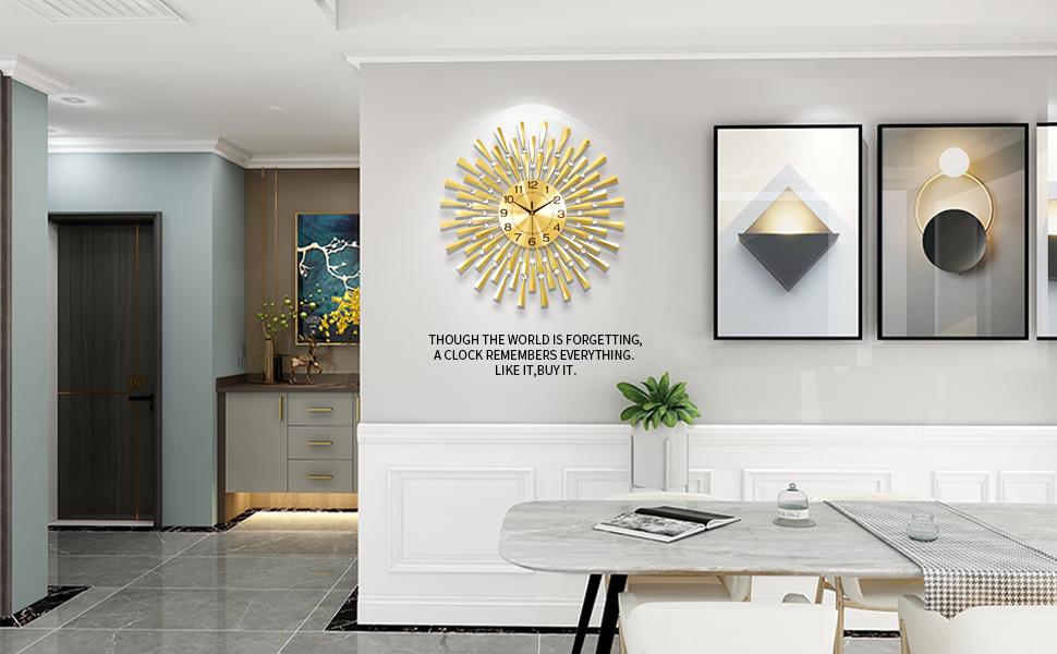digital wall clock,wall clocks,gold wall clock
