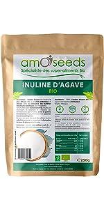 amOseeds Le Spécialiste des Super-Aliments Bio Inuline d'Agave Bio