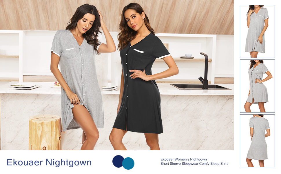 Short Sleeve Nightgowns for Women