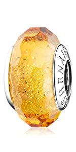 Golden Murano Glass Charms