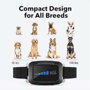 rechargeable bark collar dog bark collar for small medium large dog training collar no bark collar