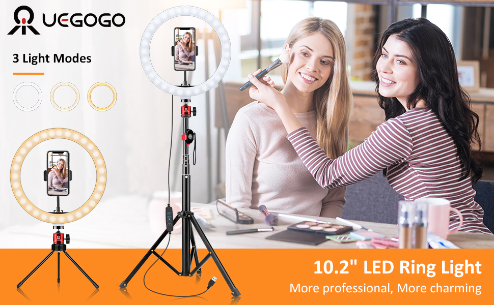 UEGOGO RING LIGHT KIT WITH TRIPOD STAND