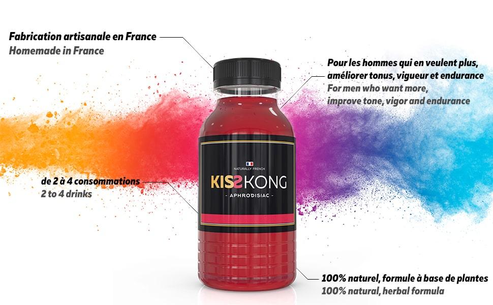kiss kong puissant stimulant homme maca ginseng vigueur aphrodisiac