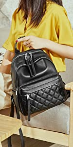Women's Leather Backpack Casual Style Backpacks Travel Daypack for Ladies