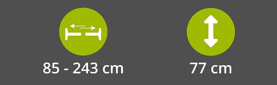 Wand Saver Schutzgitter Sch/ützt f/ür Baby Jooheli Sicherheits Wandschutz Pads 4er Set Wandschutz f/ür Treppengitter und T/ürgitter Kind Kein Bohren Haustier