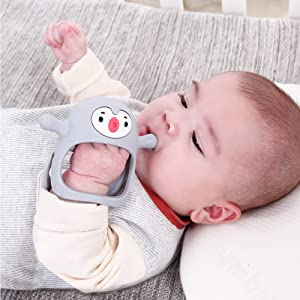 Smily Mia Penguin Soother Teether