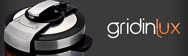 GRIDINLUX. Olla Programable, 14 Programas, Gran Capacidad, Táctil, Sistema de Seguridad. Incluye Accesorios y Recetario. Cocina Fácil: Amazon.es: Hogar