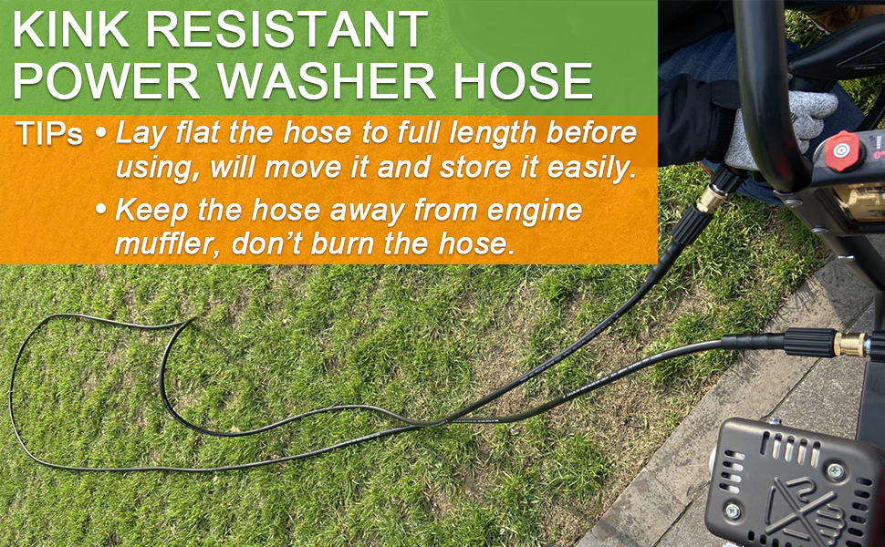 YAMATIC KINK RESISTANT POWER WASHER HOSE