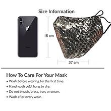 Sparkle face mask  Fancy mask Fancy face mask Black glitter mask Sparkle mask Sparkly face mask