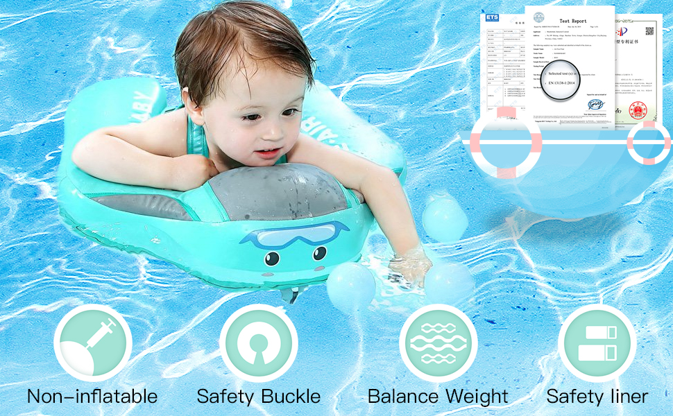 HECCEI Non-Inflatable Baby Swim Float