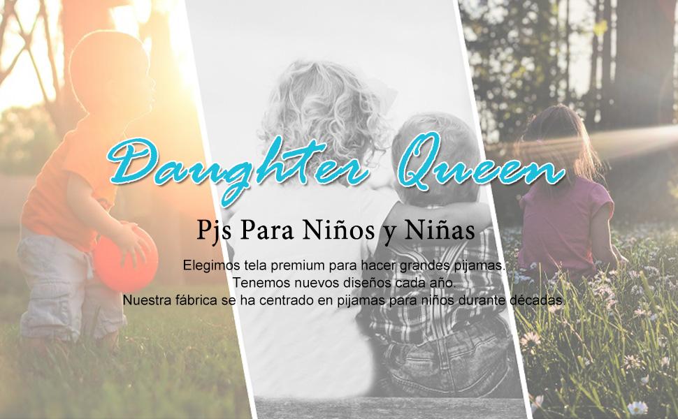 Pijamas Niños, Pijama Niño Invierno de 100% Algodon, Pijamas de Manga Larga para Niños de 1 a 7 Años