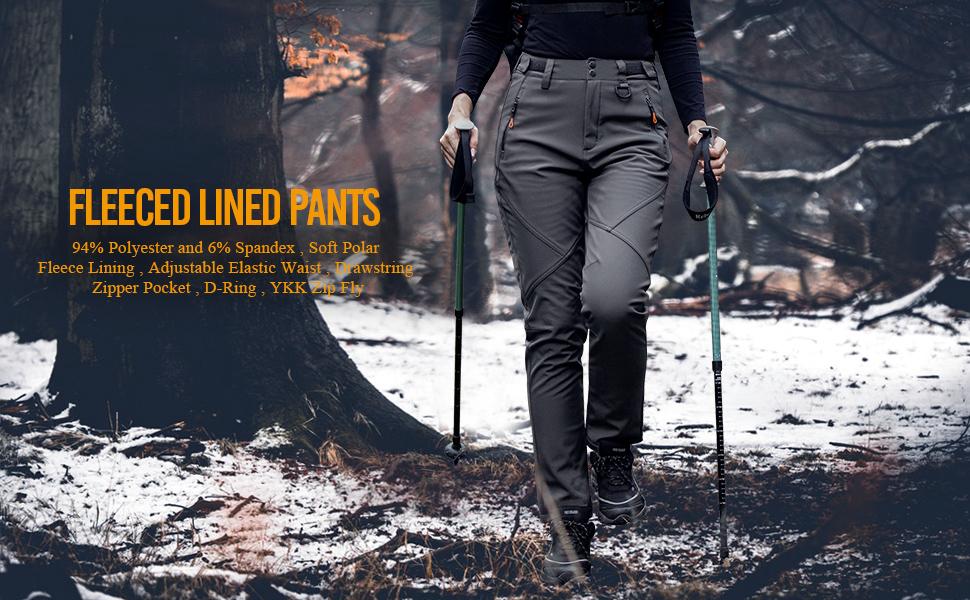 FLEECED LINED PANTS