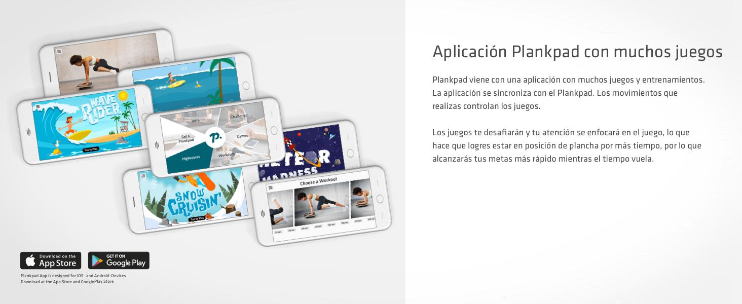 plankpad – Full-Body Fitness Trainer con aplicación para iOS y Android – Innovative Balance Board from Shark Tank TV Show in Negro/Walnut