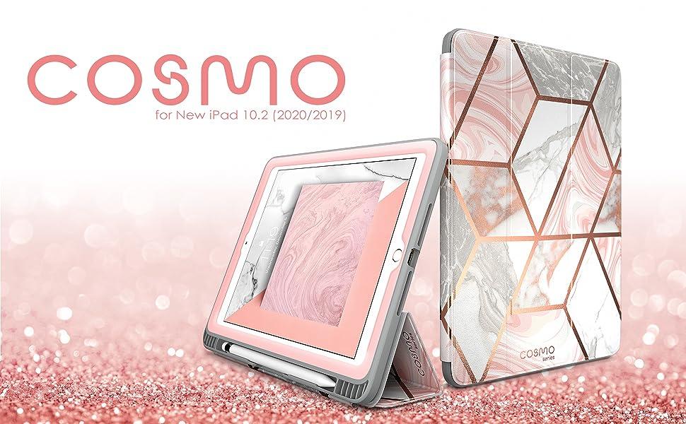 iPad 10.2 Case 2020 2019, i-Blason Cosmo Full-Body Trifold Stand Protective Case Cover