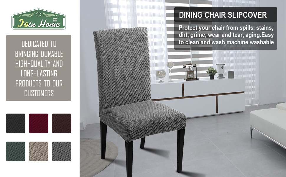 JQinHome dining chair cover fit for most of parsons chair