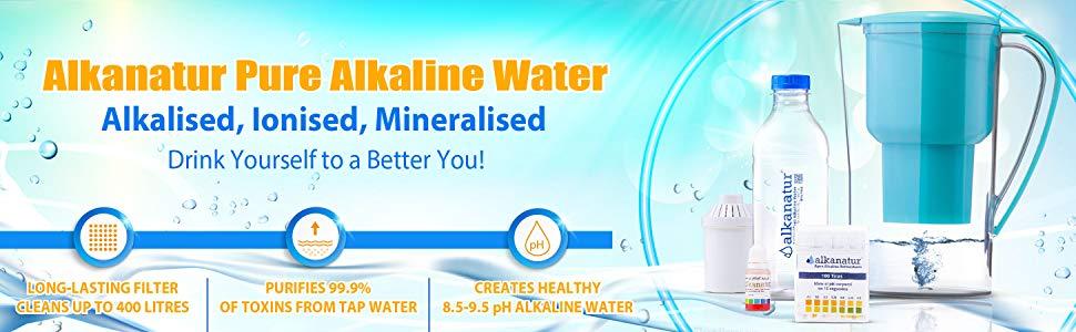 Alkanatur Alkaline Ionized Water purifies water eliminates impurities fluorides chloramine
