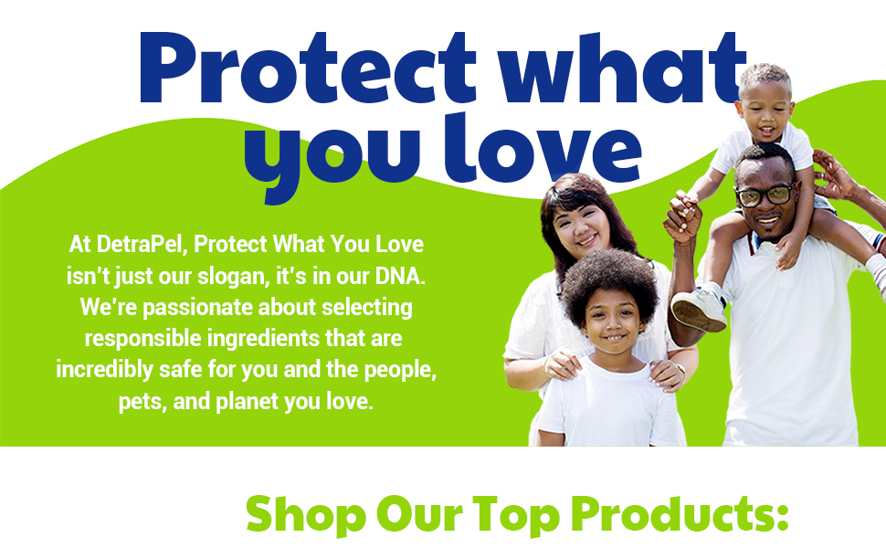 detrapel, protect what you love, family, pets, people, planet-friendly, safer, detrapel, scotchgard