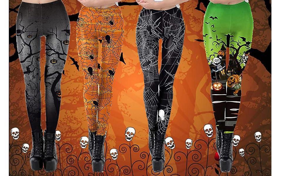 Running Pants Printed Leggings Youth Halloween Trick or Treat Leggings Printed Leggings Yoga Pants Holiday Print Leggings