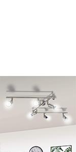 plafonnier spot spot plafond plafonnier orientable 6 spots plafonnier gu10 luminaire