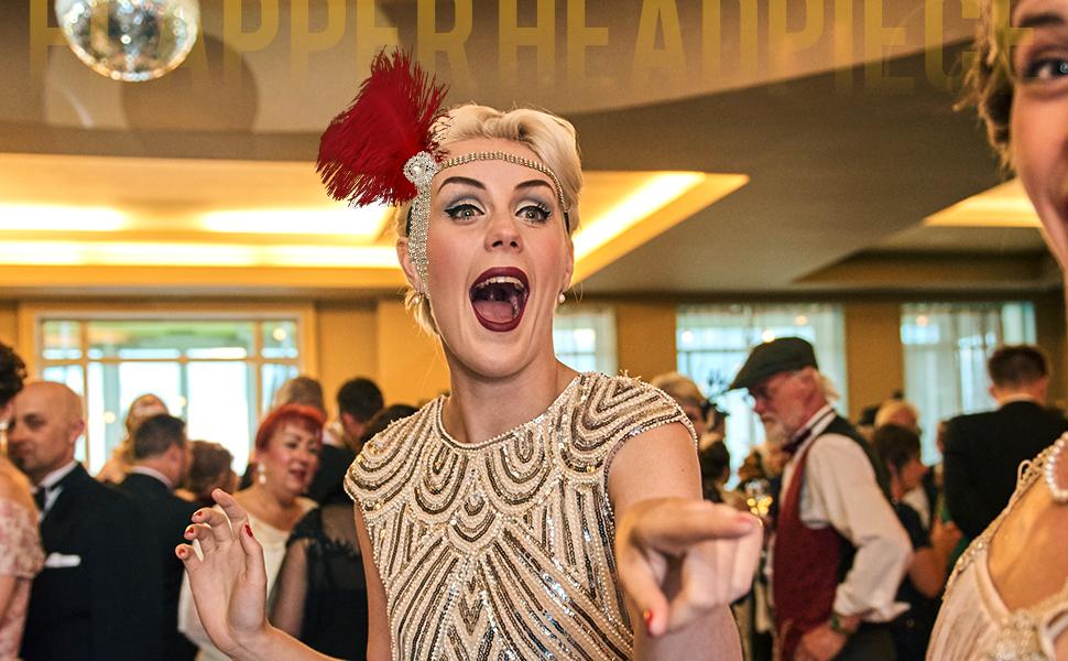 Great Gatsby Inspired Feather Headband
