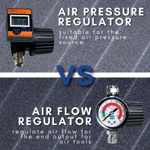Air Pressure Regulator vs. Air Flow Regulator