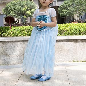 Blue princess costume flats shoes