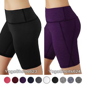 "ODODO 8"" Power Flex Yoga Shorts with Hidden Pocket"