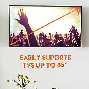 "sturdy 80"" tv mount fixed fixed wall universal 24"" stud 16"" stud tv mount ultra-slim tv mount"