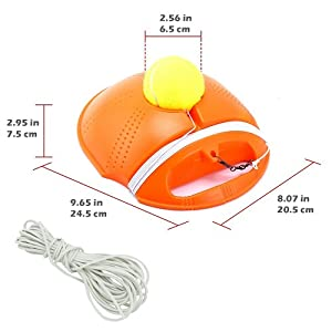 Springen Tennis Trainer Rebound Baseboard Tennis Ball Self-Study Practice Tool Equipment Sport Exercise for Beginner with 2 Balls