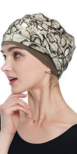 cheetah cap beanie chemo patients