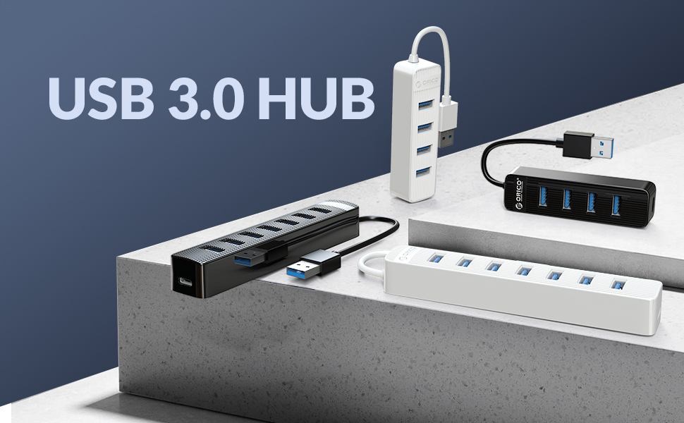 usb 3.0 hub data apater splitter power supply pc laptop ps4 xbox one gaming controller charger