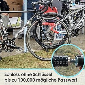 Cijferslot, fietsslot, kettingslot, kabelslot, veiligheidsniveau, fietsslot, tellen
