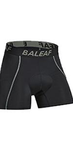 Men's Padded Bike Underwear Black