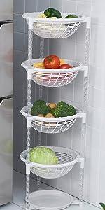 4 Tier fruit basket