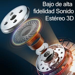 Auriculares inalámbricos Bluetooth 5.1 IHOUMI, para Hacer Deporte, Auriculares estéreo 6D de Alta fidelidad, Graves potentes, IPX7 Impermeable,con ...